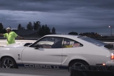 Video: 1977 Ford Mustang Cobra II At A Drag Race