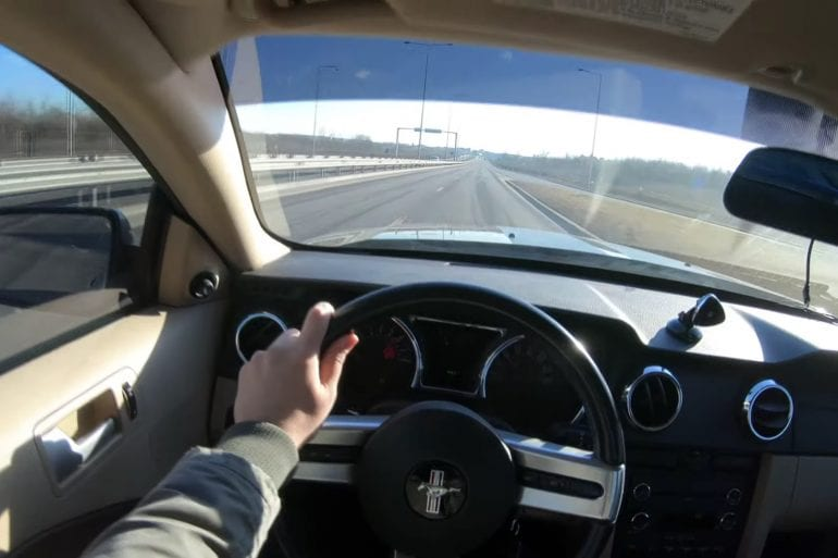 Video: 2008 Ford Mustang GT 4.6L V8 POV Highway Drive