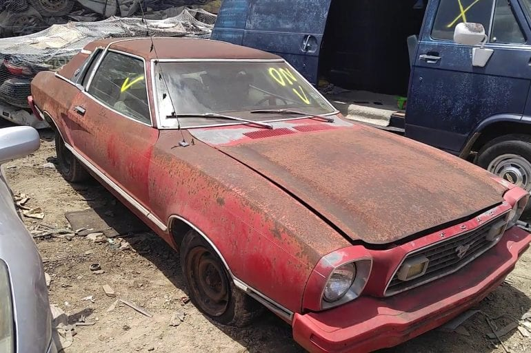Video: 1978 Ford Mustang II Ghia Found In A Junk Yard