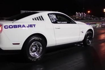 Video: 2012 Ford Mustang Cobra Jet vs Dodge Demon Drag Race