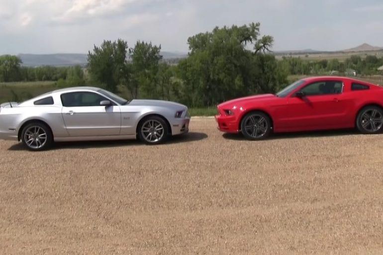 Video: 2013 Ford Mustang GT vs V6 Mustang 0-60 mph Test