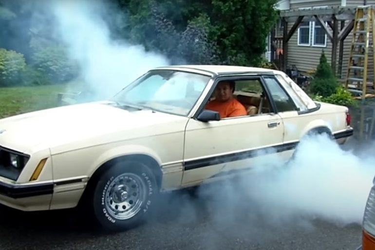 Video: 1981 Ford Mustang Burnout