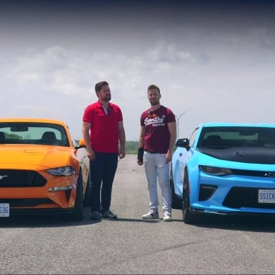 Video: 2019 Mustang GT PP2 vs Camaro SS 1LE - Drag Race + Lap Times