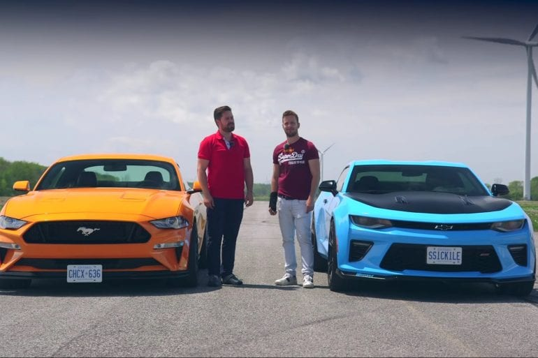 Video: 2019 Mustang GT PP2 vs Camaro SS 1LE - Drag Race + Lap Times