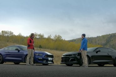 Video: 2019 Ford Mustang Shelby GT350R vs Camaro ZL1 - Rivalry