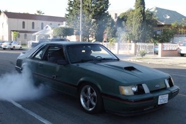 Video: 1984 Ford Mustang SVO Burnout