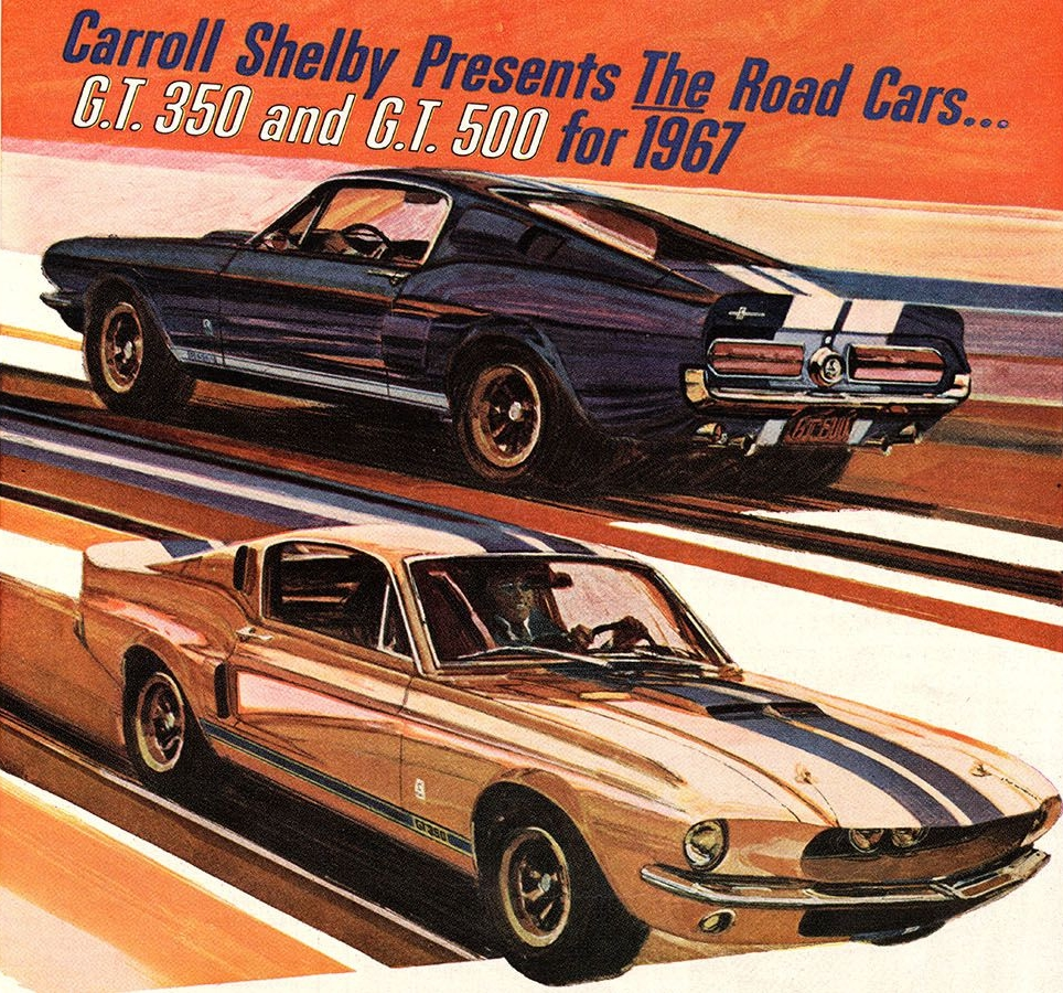 1967 GT350 and GT500 promotional advertisement.