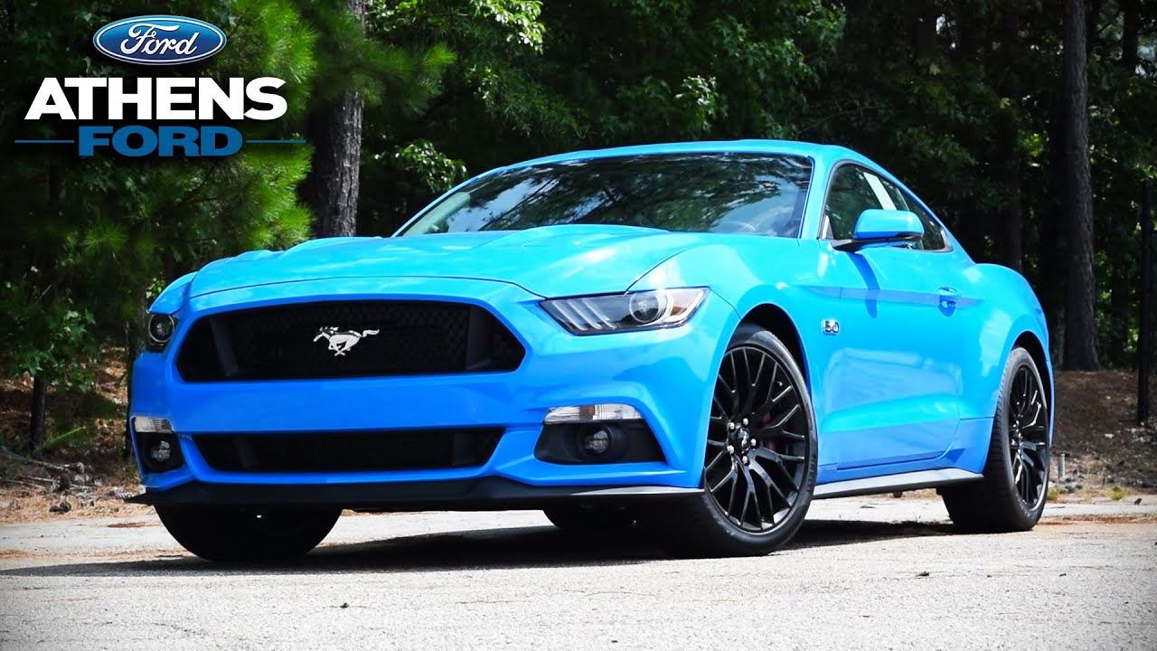 Video: 2017 Ford Mustang Blue Edition Review - Return of Grabber Blue!