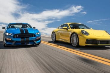 Video: 2019 Ford Mustang Shelby GT350 vs. Porsche 911 Carrera S - Hot Lap Matchup