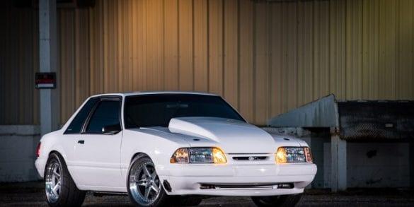 Custom white 1992 Foxbody Mustang LX