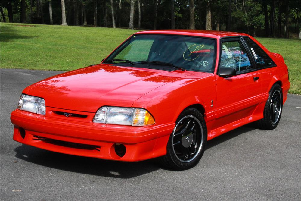 Red 1993 Mustang SVT Cobra R