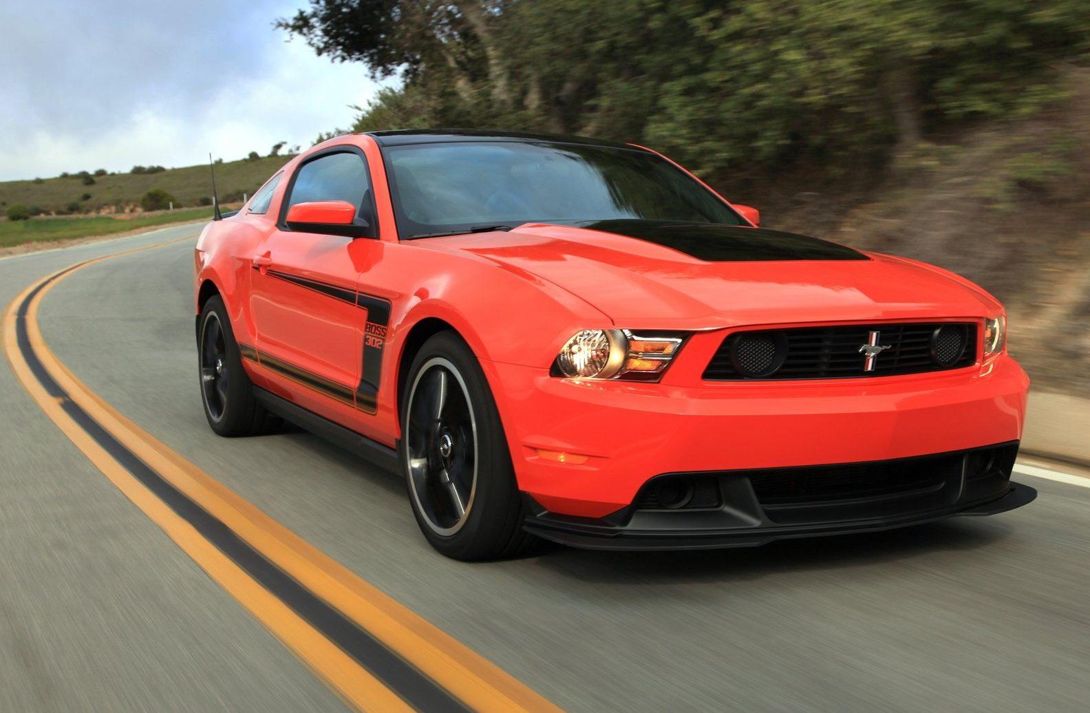 Red 2012 Mustang Boss 302
