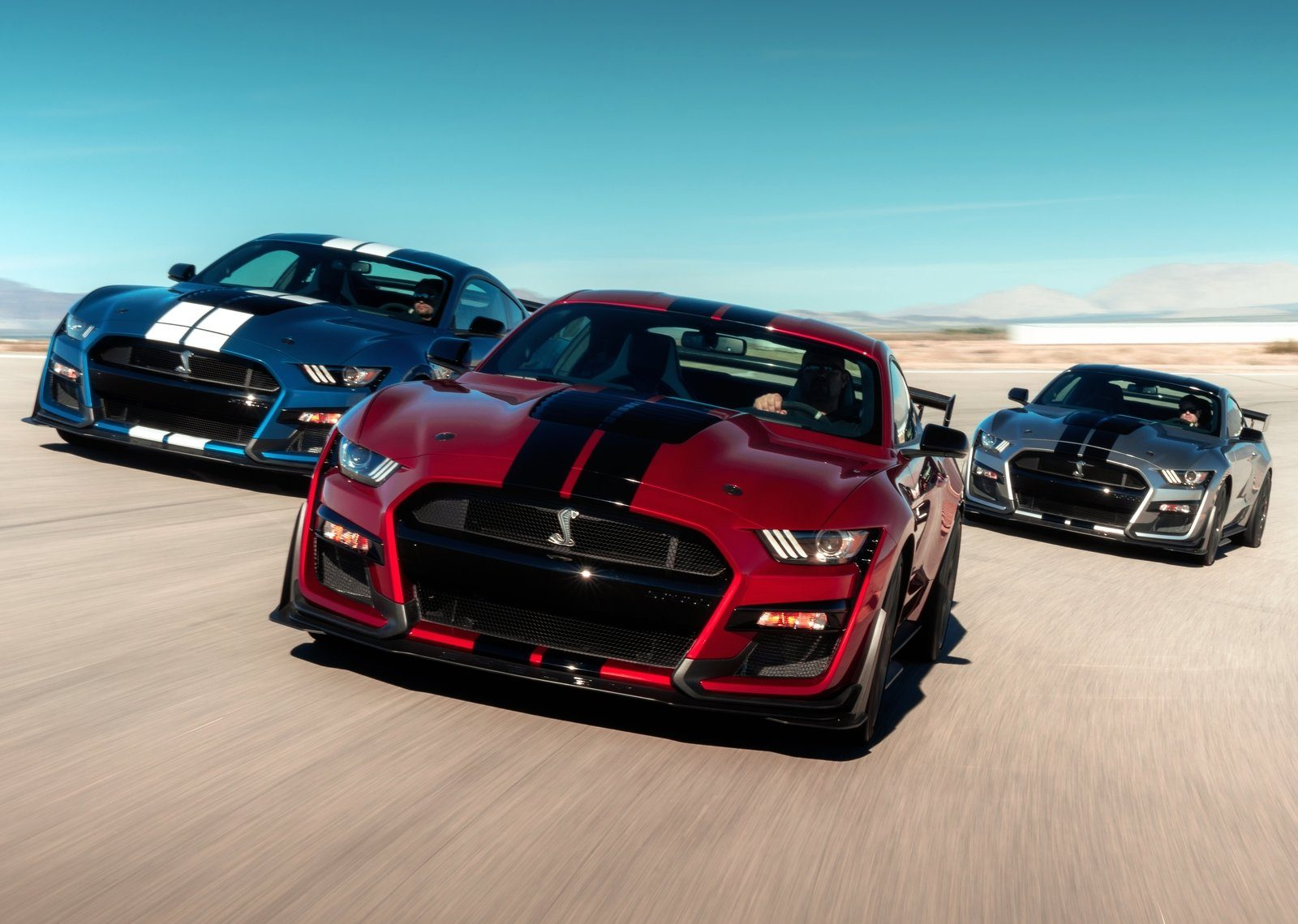Trio of 2020 Shelby GT500 Mustangs