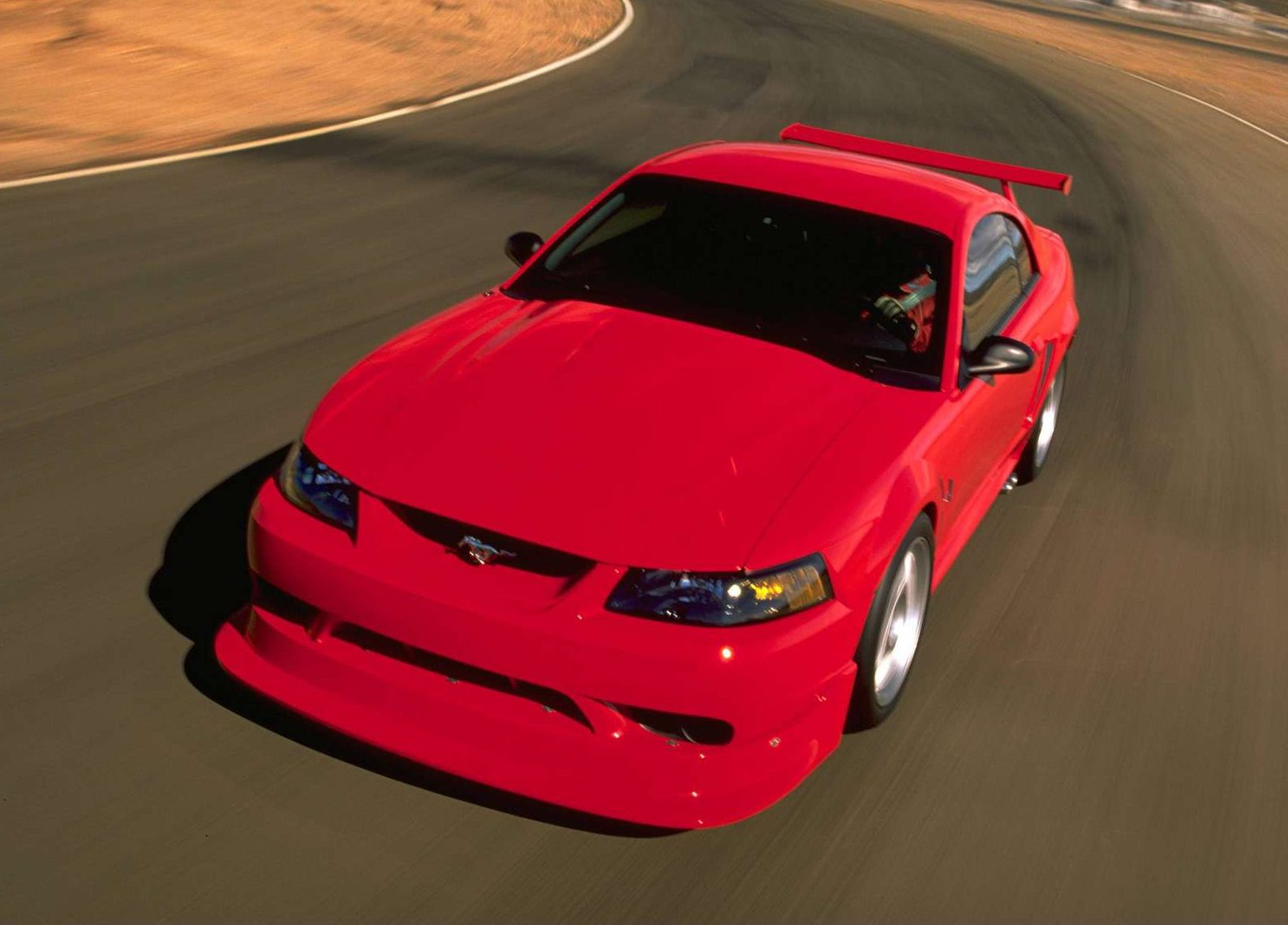 Red 2000 Mustang SVT Cobra R