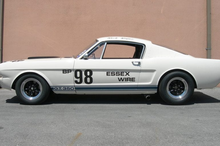 White 1965 Shelby GT350R